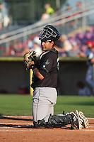 Jose Ruiz #26 of the Eugene Emeralds during a game against the Salem-Keizer Volcanoes at Volcanoes Stadium on July 27, 2014 in Keizer, Oregon. Salem-Keizer defeated Eugene, 9-1. (Larry Goren/Four Seam Images)