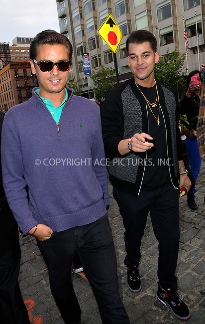 WWW.ACEPIXS.COM . . . . .  ....April 24 2012, New York City....Scott Disick (L) and Rob Kardashian take a stroll around the Meatpacking District on April 24 2012 in New York City....Please byline: CURTIS MEANS - ACE PICTURES.... *** ***..Ace Pictures, Inc:  ..Philip Vaughan (212) 243-8787 or (646) 769 0430..e-mail: info@acepixs.com..web: http://www.acepixs.com