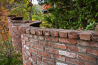 Brick serpentine wall at Marin Art and Garden Center