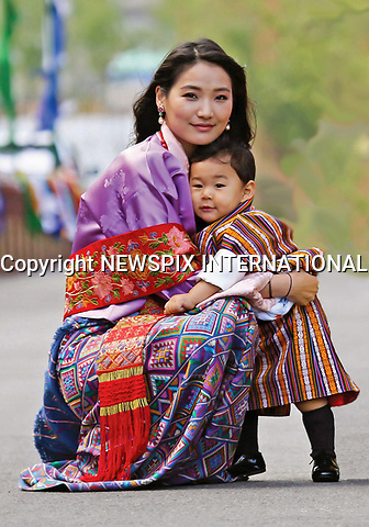 01.05.2017; Thimpu, Bhutan: PRINCE JIGME WITH MOTHER QUEEN JETSUN PEMA<br /> celebrates the anniversary of him receiving the name of Jigme Namgyel Wangchuck on the Zhabdrung Kuchoe. The Royal Family were photographed at the Tashichhodzong.<br /> The young prince celebrated his first birthday on 5th February 2017.<br /> Mandatory Credit Photo: &copy;Royal Palace/NEWSPIX INTERNATIONAL<br /> <br /> IMMEDIATE CONFIRMATION OF USAGE REQUIRED:<br /> Newspix International, 31 Chinnery Hill, Bishop's Stortford, ENGLAND CM23 3PS<br /> Tel:+441279 324672  ; Fax: +441279656877<br /> Mobile:  07775681153<br /> e-mail: info@newspixinternational.co.uk<br /> Please refer to usage terms. All Fees Payable To Newspix International
