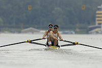 Poznan, POLAND.  2006, FISA, Rowing, World Cup, GER M2- bow  Jochen URBAN and Andreas PENKNER, moves  away from  the  start, on the Malta  Lake. Regatta Course, Poznan, Thurs. 15.05.2006. © Peter Spurrier   .[Mandatory Credit Peter Spurrier/ Intersport Images] Rowing Course:Malta Rowing Course, Poznan, POLAND