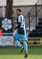 Jerell Sellars (Loanee from Aston Villa) of Wycombe Wanderers during the Sky Bet League 2 match between Notts County and Wycombe Wanderers at Meadow Lane, Nottingham, England on 28 March 2016. Photo by Andy Rowland.