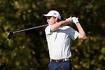 31 October 2016: UNCG's Jake McGlone. The Third Round of the 2016 Bridgestone Golf Collegiate NCAA Men's Golf Tournament hosted by the University of North Carolina Greensboro Spartans was held on the West Course at the Grandover Resort in Greensboro, North Carolina.