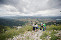 Turkish fans overview the valley / await the peloton<br /> <br /> Tour of Turkey 2014<br /> stage 5