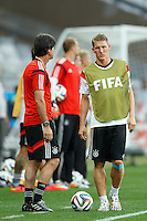 Bastian Schweinsteiger and Germany manager Joachim Low