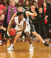 NWA Democrat-Gazette/ANTHONY REYES &bull; @NWATONYR<br /> Springdale against Springdale Har-Ber in the second half Monday, Jan. 11, 2016 at Bulldog Gymnasium in Springdale. The Wildcats won 69-68 in double overtime.