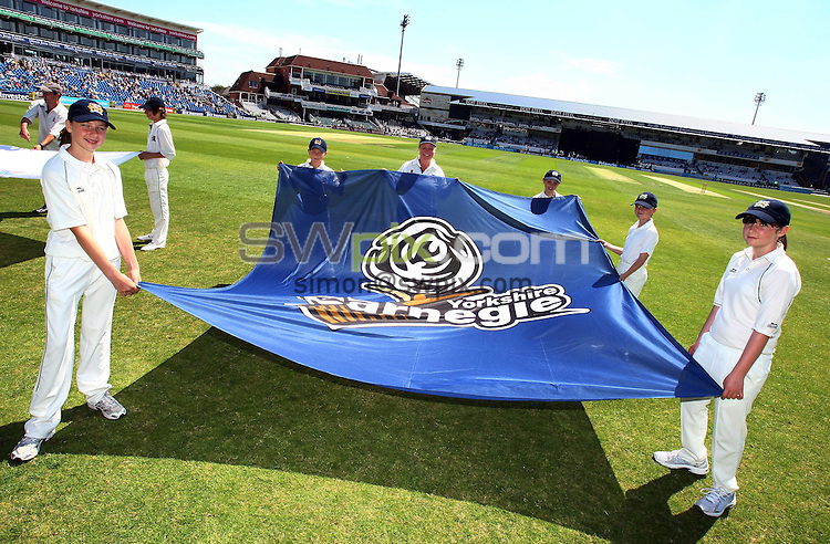 PICTURE BY VAUGHN RIDLEY/SWPIX.COM...Cricket - T20 - Yorkshire v Nottinghamshire - Headingley, Leeds, England - 03/07/11...Flag Bearers.