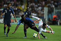 Ibrahima Konate of France and Phil Foden of England compete for the ball<br /> Cesena 18-06-2019 Stadio Dino Manuzzi <br /> Football UEFA Under 21 Championship Italy 2019<br /> Group Stage - Final Tournament Group C<br /> England - France<br /> Photo Cesare Purini / Insidefoto