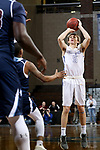 SIOUX FALLS, SD - MARCH 9:  Jay Wolfe #5 From Briar Cliff spots up for a jumper against St Thomas during their second round game at the 2018 NAIA DII Men's Basketball Championship at the Sanford Pentagon in Sioux Falls. (Photo by Dave Eggen/Inertia)