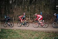 Jimmy Turgis (FRA/Cofidis) descending the Kemmelberg<br /> <br /> Driedaagse Brugge-De Panne 2018<br /> Bruges - De Panne (202km)