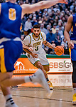 9 February 2019: University of Vermont Catamount Forward Anthony Lamb, a Junior from Toronto, Ontario, in first-half action against the University at Albany Great Danes at Patrick Gymnasium in Burlington, Vermont. The Catamounts defeated the Danes 67-49 in their America East matchup. Mandatory Credit: Ed Wolfstein Photo *** RAW (NEF) Image File Available ***