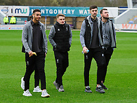 Left to right, Lincoln City's Max Melbourne, Jake Hesketh, Ellis Chapman, Grant Smith arrive at the ground<br /> <br /> Photographer Andrew Vaughan/CameraSport<br /> <br /> The EFL Sky Bet League One - Shrewsbury Town v Lincoln City - Saturday 11th January 2020 - New Meadow - Shrewsbury<br /> <br /> World Copyright © 2020 CameraSport. All rights reserved. 43 Linden Ave. Countesthorpe. Leicester. England. LE8 5PG - Tel: +44 (0) 116 277 4147 - admin@camerasport.com - www.camerasport.com