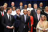 United States President Barack Obama (C) poses for a 'class photograph' with the Leaders' Summit on Peacekeeping participants during the 70th annual UN General Assembly at the UN headquarters September 28, 2015 in New York City. The White House helped to lead and secure new committments of peacekeeping support from UN member countries. <br /> Credit: Chip Somodevilla / Pool via CNP