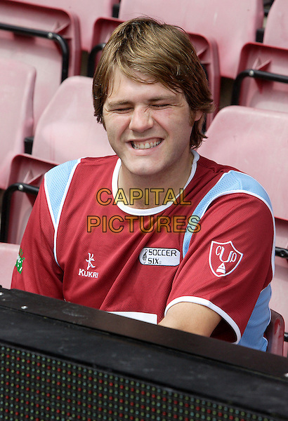 Brian McFADDEN <br /> The Music Industry Soccer Six tournament held at West Ham United Football Club, Upton Park, London, England. <br /> May 20th 2007<br /> football footie sport headshot portrait Brian uniform funny face smiling <br /> CAP/ROS<br /> &copy;Steve Ross/Capital Pictures