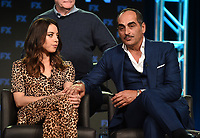 PASADENA, CA - FEBRUARY 4: (L-RR) Cast Members Aubrey Plaza and Navid Negahban during the LEGION panel for the 2019 FX Networks Television Critics Association Winter Press Tour at The Langham Huntington Hotel on February 4, 2019 in Pasadena, California. (Photo by Frank Micelotta/FX/PictureGroup)