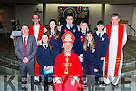 Tiernaboul NS pupils with Bishop Ray Browne after at their Confirmation in the Church of the Ressurection on Friday l-r: Conor Gleeson Principal, Fr Kieran O'Brien, Michaela Bingham, Aoibhe o'Doherty, James O'brien,  Jack O'sullivan Elena O'Donoghue and Sean O'Leary Fr Niall Howard