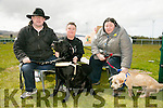 l-r  James Fitzgerald with Yaser, Helen Fitzgerald with Humphrey and Belinda Broderich of Belinda's Puppy Salon who organised the event in aid of Irish Guide Dog Association at the Dog Show and Fun Day fundraiser for  at the John Mitchels sports complex on Saturday