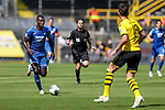Ihlas Bebou (TSG 1899 Hoffenheim, #9), Leonardo Balerdi (Borussia Dortmund, #18); 1. Fussball-Bundesliga; Borussia Dortmund - TSG Hoffenheim am 27.06.2020 im Signal-Iduna-Park in Dormund (Nordrhein-Westfalen). <br /> <br /> FOTO: BEAUTIFUL SPORTS/WUNDERL/POOL/PIX-Sportfotos<br /> <br /> DFL REGULATIONS PROHIBIT ANY USE OF PHOTOGRAPHS AS IMAGE SEQUENCES AND/OR QUASI-VIDEO. <br /> <br /> EDITORIAL USE OLNY.<br /> National and<br /> international NewsAgencies OUT.<br /> <br /> <br /> <br /> Foto © PIX-Sportfotos *** Foto ist honorarpflichtig! *** Auf Anfrage in hoeherer Qualitaet/Aufloesung. Belegexemplar erbeten. Veroeffentlichung ausschliesslich fuer journalistisch-publizistische Zwecke. For editorial use only. DFL regulations prohibit any use of photographs as image sequences and/or quasi-video.