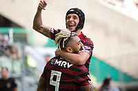 São Paulo (SP), 01/12/2019 - Palmeiras-Flamengo - Gabriel do Flamengo comemora o gol. Partida entre Palmeiras x Flamengo pela 36ª rodada do Campeonato Brasileiro, na Arena Palmeiras, em São Paulo (SP), domingo (01).
