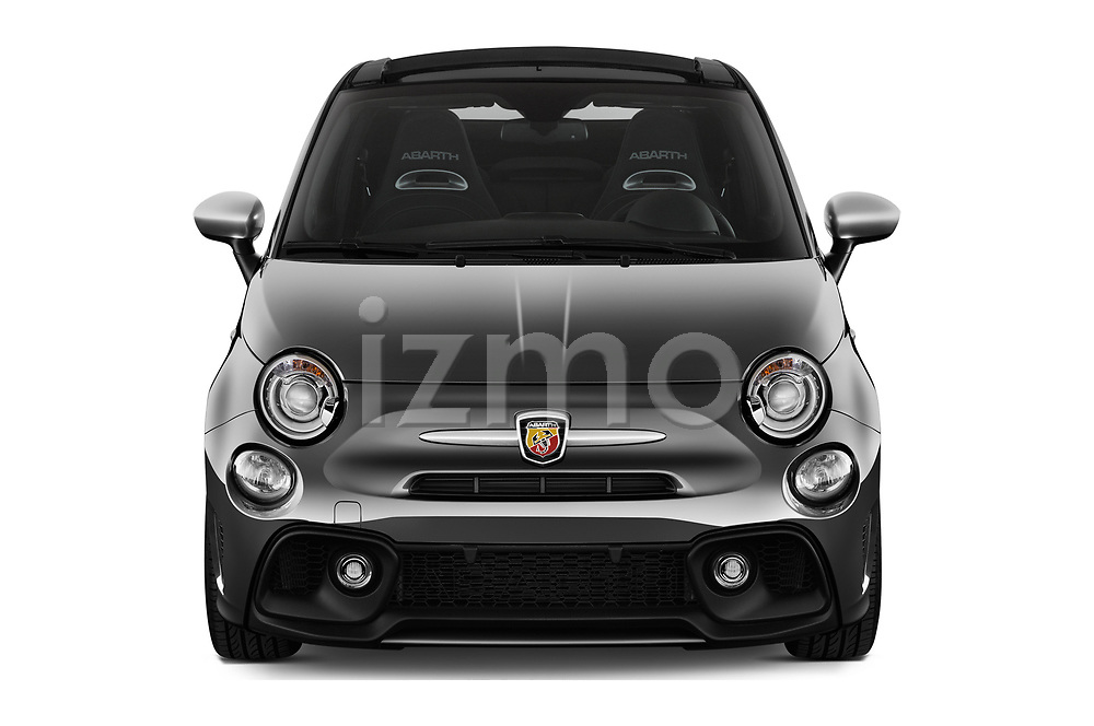 Car photography straight front view of a 2018 Abarth 595 Turismo Base 2 Door Convertible