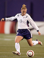 "USA's Christie Rampone. The US Women's National Team tied the Denmark Women's National Team 1 to 1 during game 8 of the 10 game the ""Fan Celebration Tour"" at Giant's Stadium, East Rutherford, NJ, on Wednesday, November 3, 2004.."