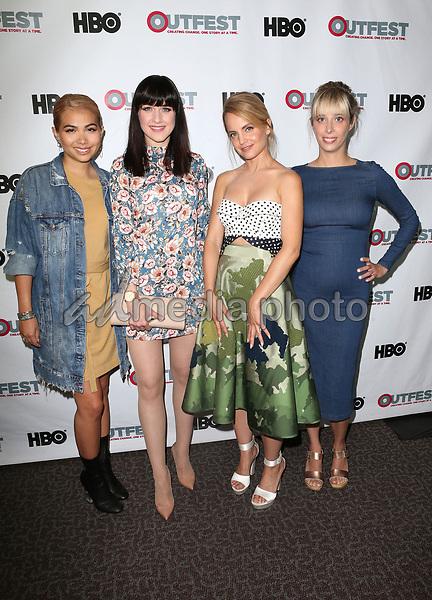 "10 July 2017 - West Hollywood, California - Hayley Kiyoko, Lena Hall, Mena Suvari, Elizabeth Rohrbaugh. ""Becks"" 2017 Outfest Los Angeles LGBT Film Festival Screening. Photo Credit: F. Sadou/AdMedia"