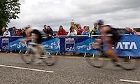 Photo: Richard Lane/Richard Lane Photography. GE Strathclyde Park Triathlon. 22/05/2011. Biking during the Junior Elite men race.