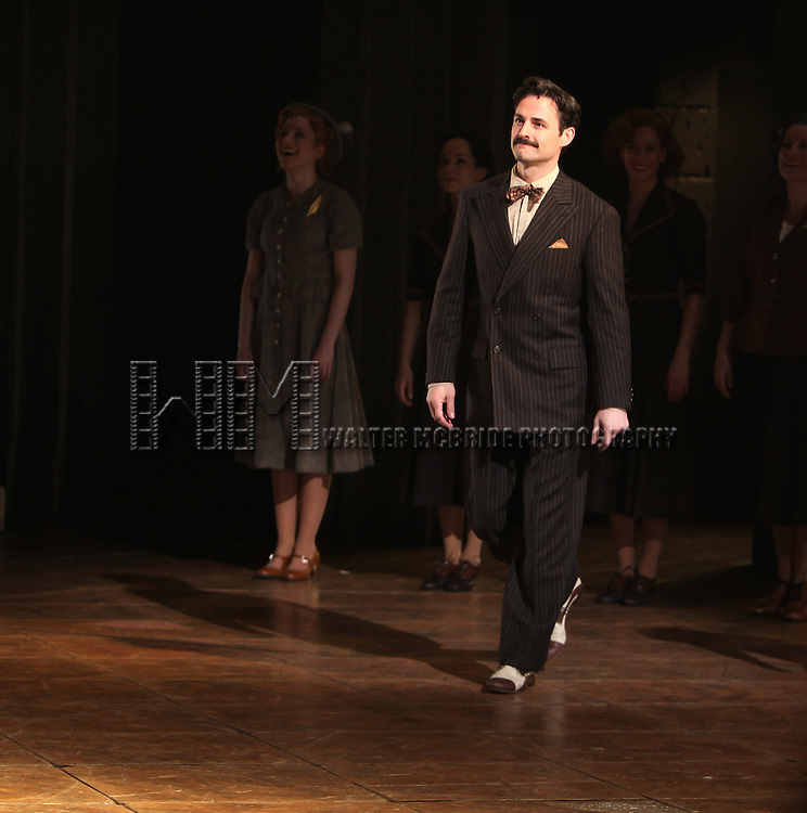 Max Von Essen.during the Broadway Opening Night Performance Curtain Call for 'EVITA' at the Marquis Theatre in New York City on 4/5/2012