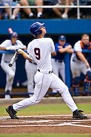 June 06, 2009:  NCAA Super Regional: Florida Gators vs Southern Miss Golden Eagles:    Florida DH Jonathan Pigott (9) during game one of Super Regional action at Alfred A. McKethan Stadium on the campus of University of Florida in Gainesville.   Southern Miss defeated Florida 9-7 to take a 1-0 lead in the series............