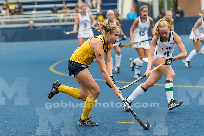 9/10/16 University of Michigan Women's Field Hockey team defeats Villanova, 3 - 0 at Ocker Field, Ann Arbor, MI.