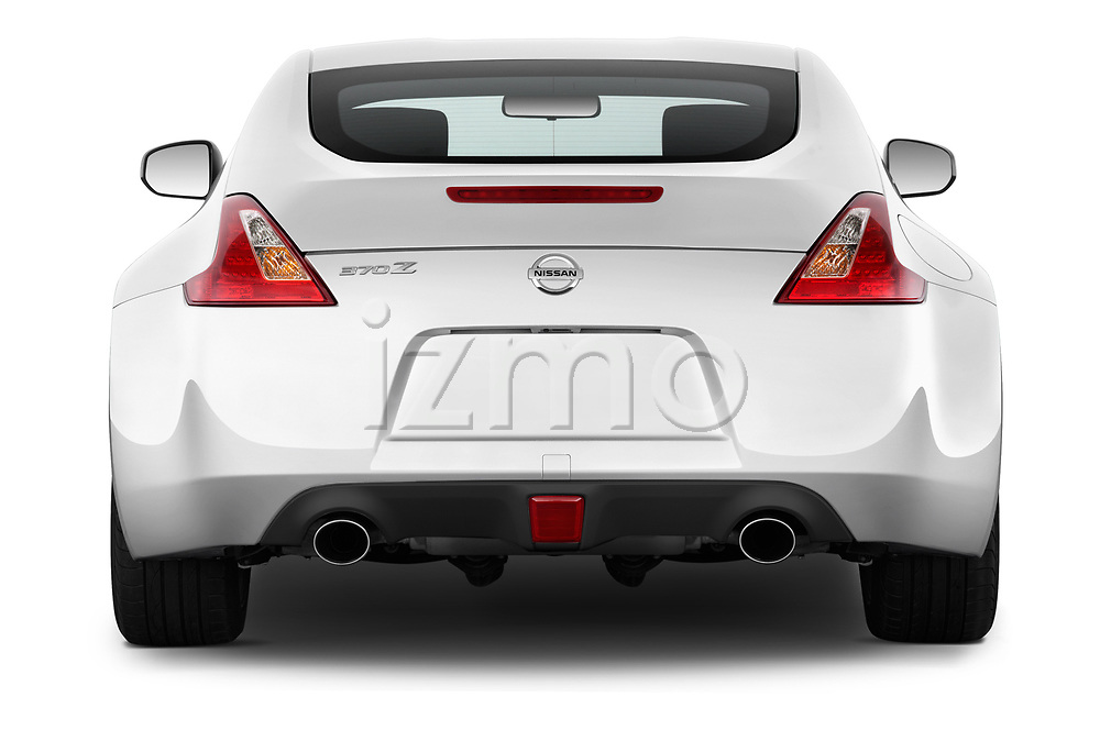 Straight rear view of 2020 Nissan 370Z-Coupe 7A/T 0 Door Coupe Rear View  stock images