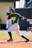 Siena Saints outfielder Andres Ortiz (3) during a game against the Central Florida Knights at Jay Bergman Field on February 16, 2014 in Orlando, Florida.  UCF defeated Siena 9-6.  (Mike Janes/Four Seam Images)