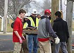 Boy Scouts from Troop 58 in Oceanport, NJ help JCP&L Crews relocate an Osprey's Nest in Monmouth Beach, NJ on Saturday February 25, 2017.