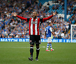 Leon Clarke of Sheffield Utd celebrates his second goal during the Championship match at the Hillsborough Stadium, Sheffield. Picture date 24th September 2017. Picture credit should read: Simon Bellis/Sportimage