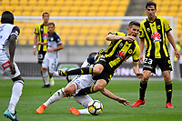 Wellington Phoenix&rsquo; Dario Vidosic and Melbourne Victory&rsquo;s Leigh Broxham in action during the A League - Wellington Phoenix v Melbourne Victory FC at Westpac Stadium, Wellington, New Zealand on Sunday 3 December.<br /> Photo by Masanori Udagawa. <br /> www.photowellington.photoshelter.com