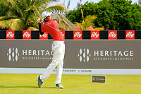 Phachara Khongwhatmai (THA) in action during the second round of the Afrasia Bank Mauritius Open played at Heritage Golf Club, Domaine Bel Ombre, Mauritius. 01/12/2017.<br /> Picture: Golffile | Phil Inglis<br /> <br /> <br /> All photo usage must carry mandatory copyright credit (&copy; Golffile | Phil Inglis)