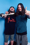 Pantera - Vinnie Paul and Phil Anselmo -  backstage at the Brixton Academy, London UK - 30 Apr 2000.  Photo credit: George Chin/IconicPix