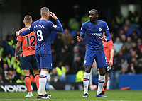 Antonio Rudiger of Chelsea and Ross Barkley seem to have trouble understanding each other during Chelsea vs Everton, Premier League Football at Stamford Bridge on 8th March 2020