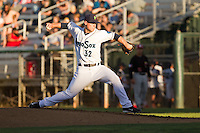 Dan Altavilla #32 of the Everett AquaSox delivers a pitch during a game against the Vancouver Canadians at Everett Memorial Stadium in Everett, Washington on July 9, 2014.  Everett defeated Vancouver 9-4.  (Ronnie Allen/Four Seam Images)