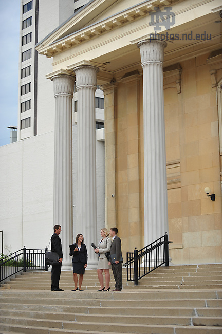 Law Students outside the St. Joseph County Courthouse