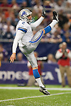 Detroit Lions punter Nick Harris (2) punts the ball during an NFL football game against the Minnesota Vikings in Minneapolis, Minnesota on September 26, 2010. The Vikings won 24-10. (AP Photo/David Stluka)