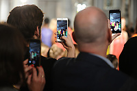 Audience taking phone photos and videos during catwalk at the Jasper Conran Spring Summer 2018 show as part of London Fashion Week, London, UK. <br /> 16 September  2017<br /> Picture: Steve Vas/Featureflash/SilverHub 0208 004 5359 sales@silverhubmedia.com