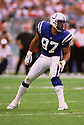 Indianapolis Colts Cornelius Bennett (97) during a game from his 1999 season with the Indianapolis Colts. Cornelius Bennett played for 14 seasons with 3 different teams and was a 5-time Pro Bowler.(SPORTPICS)