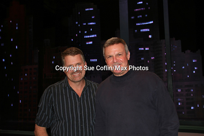 """Ron Raines came to see Robert Newman - """"Josh Lewis"""" of Guiding Light perform in the last show of Sessions on January 3, 2010 after appearing as """"Dr. Peterson"""" for seven months at the Algonquin Theatre, New York City, New York. (Photo by Sue Coflin/Max Photos)"""
