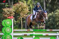 NZL-Sam Mcintosh rides Malarkey during the 5yo 1.10m Horse Breeders Final. FINAL-3RD. Takapoto Estate Show Jumping. Saturday 3 March. Takapoto Estate. Maungatautari. New Zealand. Copyright Photo: Libby Law Photography