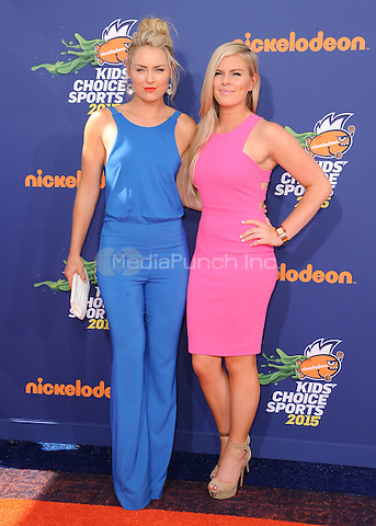 LOS ANGELES, CA - JULY 16:  Lindsey Vonn at the Nickelodeon Kids Choice Sports 2015 at the Pauley Pavilion on July 16, 2015 in Los Angeles, California. Credit: PGSK/MediaPunch