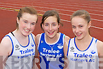 Isabel Lenihan, Jenny Godley and Ciara Murphy Tralee Harriers who competed at the Gneeveguilla AC open athletics meet in Castleisland on Sunday....