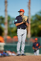 Detroit Tigers starting pitcher Matthew Boyd (48) gets ready to deliver a pitch during a Grapefruit League Spring Training game against the Baltimore Orioles on March 3, 2019 at Ed Smith Stadium in Sarasota, Florida.  Baltimore defeated Detroit 7-5.  (Mike Janes/Four Seam Images)