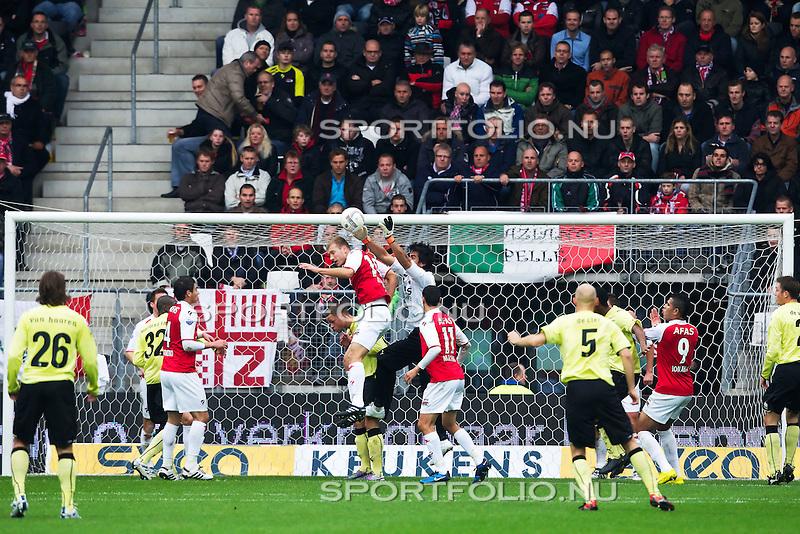 Nederland, Alkmaar,31 oktober 2010.Eredivisie.Seizoen 2010-2011.AZ-Feyenoord (2-0).Sergio Romero keeper van AZ in actie