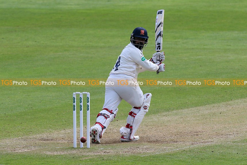 Ashar Zaidi hits four runs for Essex during Somerset CCC vs Essex CCC, Specsavers County Championship Division 1 Cricket at The Cooper Associates County Ground on 15th April 2017